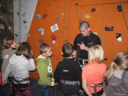 lezení s dětma
