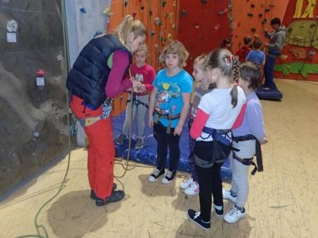 lezení s dětmi
