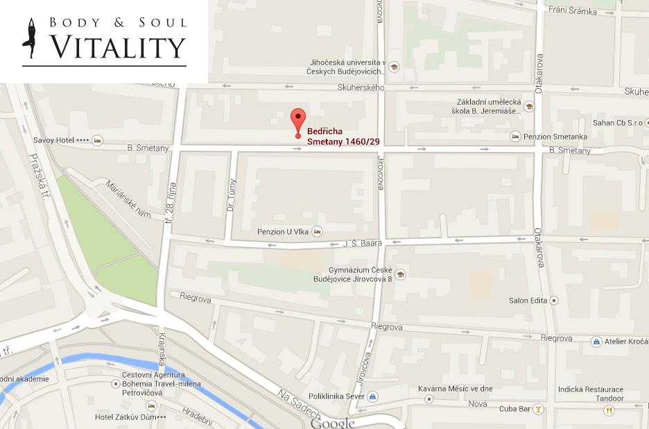 Mapa Kde cvičíme - BS Vitality