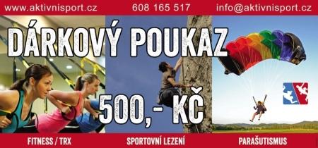 poukaz AktivníSport.cz 500