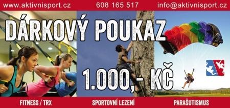 Dárkový poukaz AktivníSport.cz